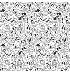School education - seamless pattern vector image