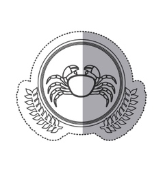 Seafood round stamp vector