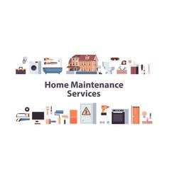 Set home maintenance repair service concept vector