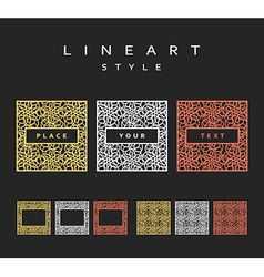 Set of design elements Labels and frames vector image