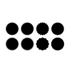 set starburst badges sunburst stickers vector image