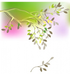 spring branch vector image