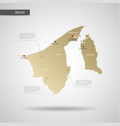stylized brunei map vector image