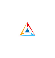 triangle circle colorful technology logo vector image