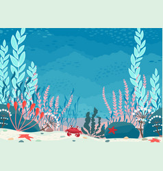 Underwater nature background vector