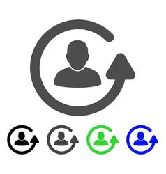 Update user flat icon vector
