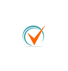 V initial check mark logo vector