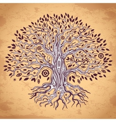 Vintage tree of life vector