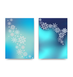 winter celebration postcards with snowflakes can vector image