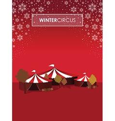 winter circus vector image vector image
