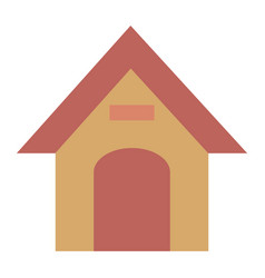 wooden house pet isolated icon vector image