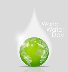World water day concept with water drop made by vector