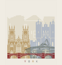 York skyline poster vector