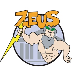 Zeus Cartoon logo vector image