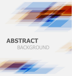abstract orange and blue business straight line vector image vector image
