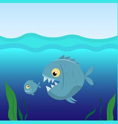 big fish eat small fish vector image
