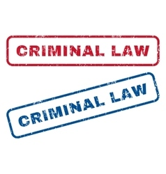 Criminal Law Rubber Stamps vector image vector image