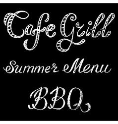 Grill cafe vector