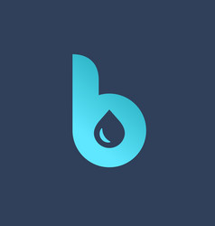letter b water drop logo icon design template vector image vector image