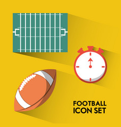set concept icon american football sport vector image vector image