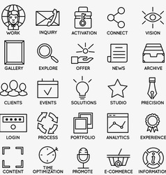 Set of seo and internet service icons - part 7 vector image vector image
