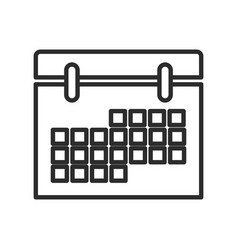 Calendar date event meeting element icon vector