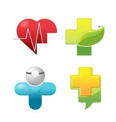 medical icon symbol logo set vector image vector image