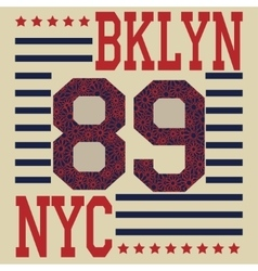 New york Brooklyn sport typography t-shirt vector image vector image