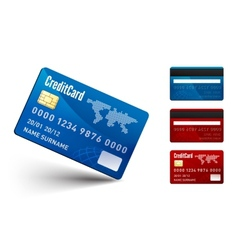 Realistic Credit Card two sides vector image