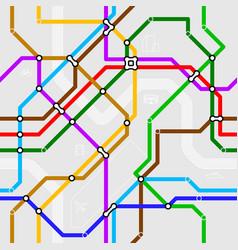 Seamless metro scheme vector image