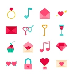 Valentines Day Objects vector image vector image