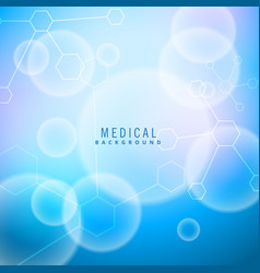 bright medical background with molecules vector image vector image