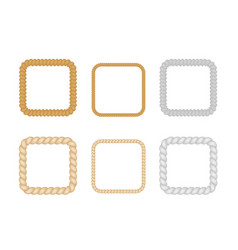 nautical ropes square frames set vector image