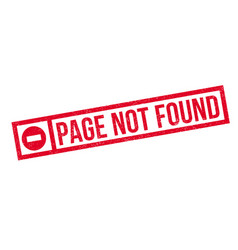 page not found rubber stamp vector image vector image