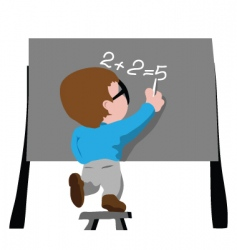 writing on board vector image