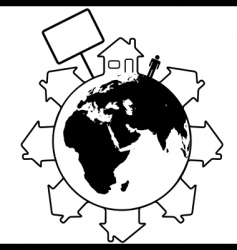 global housing vector image vector image