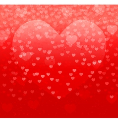 hearts on red vector image vector image