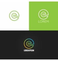 letter E logo alphabet design icon set background vector image vector image