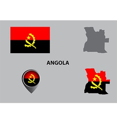 Map of Angola and symbol vector image