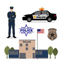 police set vector image