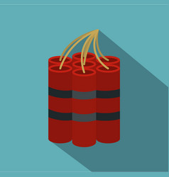 red dynamite sticks icon flat style vector image