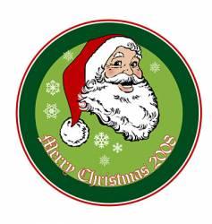 Santa 2008 vector image vector image