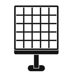 Solar panel icon simple style vector