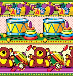 toys seamless vector image vector image