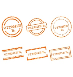 Vitamin B2 stamps vector image