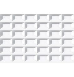 White tile texture Seamless geometric background vector image vector image