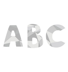 a b c grey alphabet letter set isolated on white vector image
