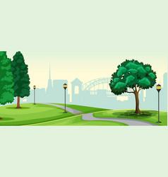 a nature urban park landscape vector image