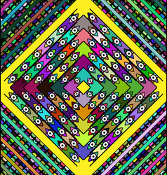 Abstract milticolor frames rhomb with ornamemt and vector