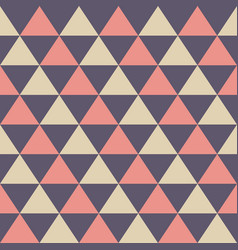 abstract seamless pattern color triangles vector image